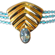 Topaz Necklace with 18ct Gold Pendant