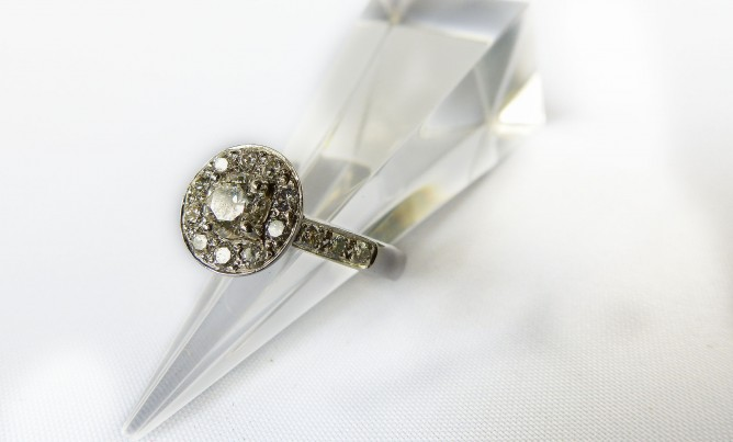 Halo-Style Diamond Ring