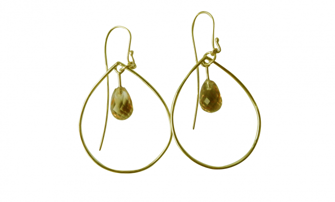 Citrine Gold Earrings