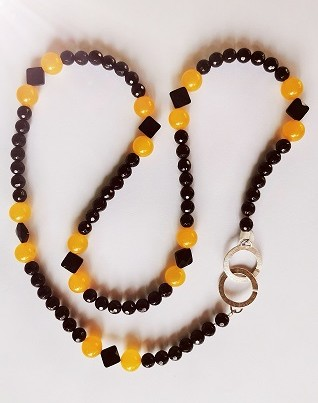 Onyx and Carnelian Necklace