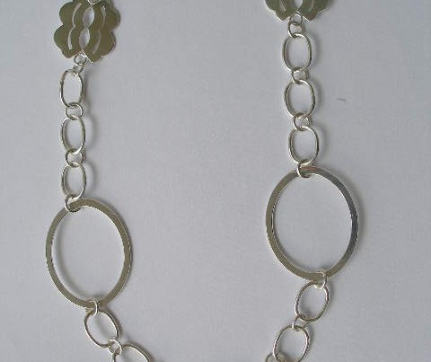 Sterling Silver Long Fancy Necklace