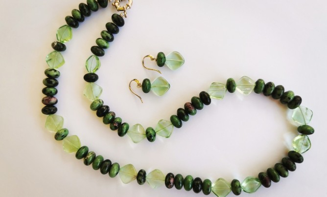 Earthy Green Necklace